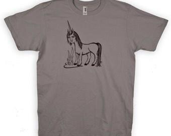 Angsty Unicorn Grey Mens Shirt