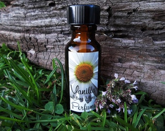 VANILLA YLANG YLANG Organic Perfume ... 1/2 oz Glass Bottle