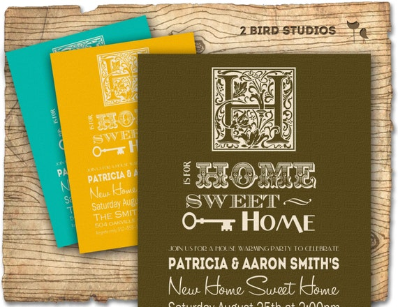 House warming invitation for house warming party - DIY printable invitation for housewarming or couples shower