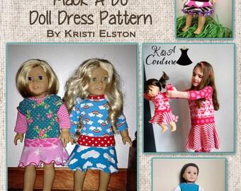 Mack-a-Do 18in Doll Dress PDF sewing pattern