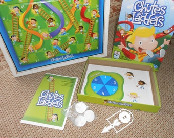 Children Board Game - Childs Wall Art - Nursery Wall Decor-Chutes and Ladders Board Game -Unique Wall Art for Child's Room - Wood Board Game