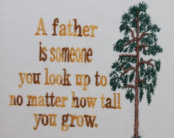 Fathers Day Saying  Machine Embroidery File ONLY Dad Father