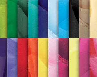 SALE! 100 Premium Tissue Sheets-choose up to 5 VIBRANT colors from over 55 available--gift wrapping, projects, crafts, weddings, DIY