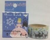 Cinderella Japanese Die Cut Masking Tape Deco Tape Paper Tape Shinzi Katoh Design  (SK-MK-004)