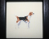 Foxhound American Cross Stitched Full Body Dog.
