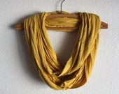 Golden Yellow Infinity Scarf -  Golden Yellow Scarves - Loop Scarf Infinity - Fall Accessories Free Shipping