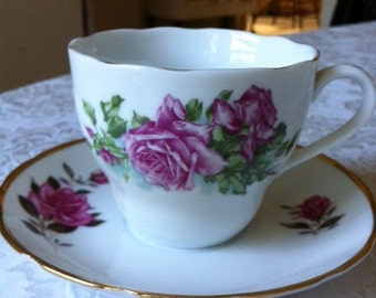 Rose Tea Cup With Saucer