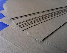 "100 - .050"" Thick Chipboard ( Heavy weight ) - Kraft Brown Cardboard Sheet Pads - For Stiffen Envelopes, Photos, Craft, Scrapbook, Packaging"