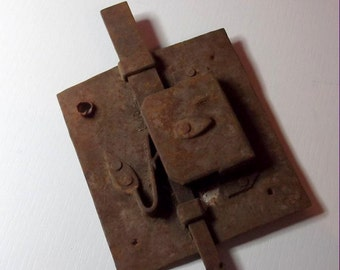 20% OFF use coupon code SAVE20   Antique Old Vintage Hand-forged Rusty Metal Latch, Hardware