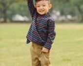 Indigo Check Shirt for Boys/ Toddler