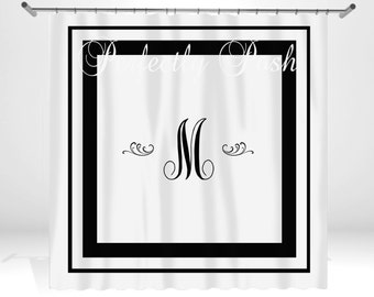 Monogrammed Initial Personalized Custom Shower Curtain Monogram with Name or Initials perfect for any bathroom