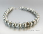 Bridesmaid Bracelet, Gray Pearl Bracelet, Grey Pearl Bracelet, Bridesmaids Gift, Flower Girl Bracelet, Pearl Bridal Jewelry