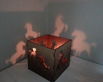 Galloping horses lantern