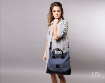 Gray leather tote - leather handbag SALE women leather bags - leather shoulder bag - office bag - gray leather bag - leather bag