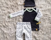 Organic baby boy coming home outfit! Newborn boy take home outfit Made To Order Londin Lux)