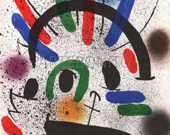 Joan Miro,  Original Lithograph V1-2