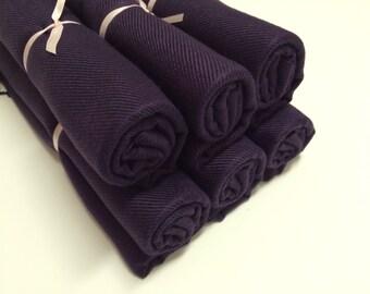 6 eggplant pashminas, pashmina set, pashmina scarf, shawls, wrap, bridal shawl, bridesmaid shawl, wedding favors, gifts, keepsakes, favor