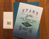 Start Where You Are - Greeting Card