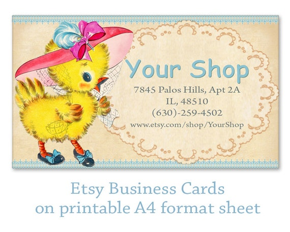 Etsy Business cards Personalized pre made business by FrezeArt
