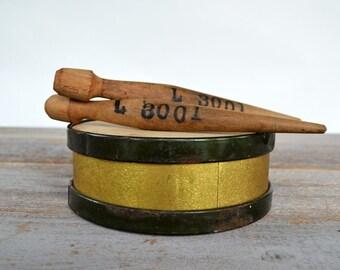 Antique Toy Drum/ Childs Parade Drum/ Wood Drumsticks