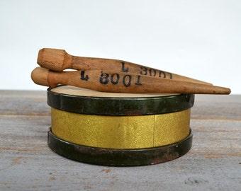 Antique Toy Drum | Childs Parade Drum | Wood Drumsticks | Vintage Musical Instrument