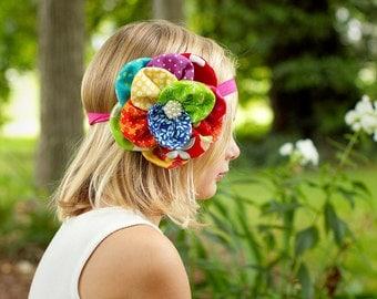 Little Girls Headband Little Girls Hair Accessory Little Girls Rainbow Hair Bow Little Girls Rainbow Hair Pin Little Girls
