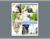 16 x 20 Digital Photo Collage Storyboard / Blog Board Template - 3