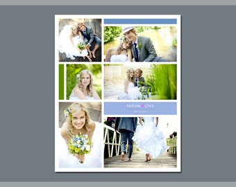 16 x 20 Digital Photo Collage Storyboard / Blog Board Template - 3