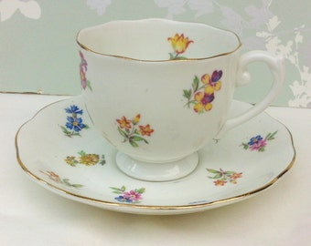 1940s Floral Tea Duo, Roslyn China