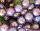 6mm Luster Bronzed Smoke Round Bead - Czech Glass Beads - 1082 - 50 Beads - Purple Smoke 6mm Druk Beads