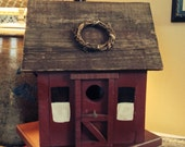 Primitive Settlers Birdhouse Handcrafted Reclaimed Wood  OFG