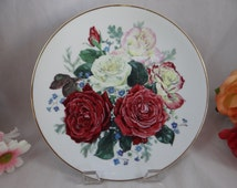 """1991 Franklin Mint  The Majesty of Roses Series   """"Fragrant Glory""""- Limited Edition Collector Plate"""