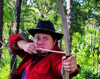 Viking Hunting Longbow with Recurve Tips (60lbs)