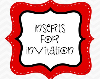 Made to Match Invitation Insert