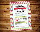 Printable 5 x 7 Fiesta Themed Couples Shower Invitation