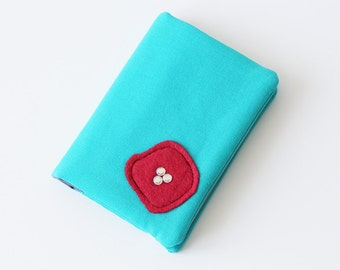 Business Card Holder, Gift Card Holder, Credit Card Case, Credit Card Organizer, Credit Card Holder - Turquoise - Poppy