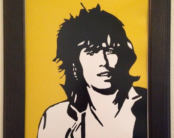 Keith Richards of The Rolling Stones Art Print