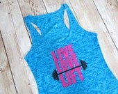 Live Love Lift Workout Tank Top. Fitness Tank Top. Gym Tank Top. Active Wear. Burnout Tank Top. Racerback Tank Top. Gym Shirt. Workout Shirt