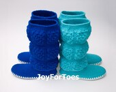 Crochet Shoes for the Street Made to Order Turquoise Granny Square Choose Your Perfect Color