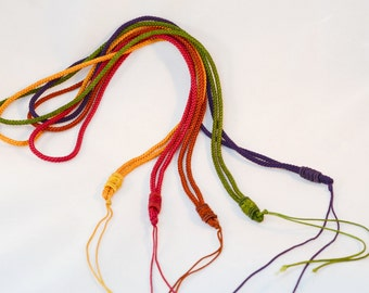 Nylon Necklace Making Cord,Mixed Color,650 mm