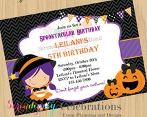 DIY Witching Hour Invitation - Halloween Party -Birthday- Seasonal -Personalized Invitation By Serendipity Celebrations