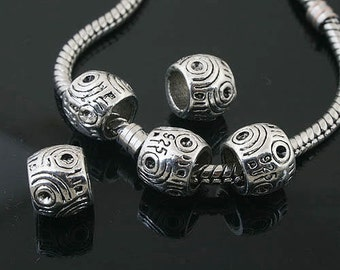 12pcs Tibetan Silver spacer Beads Fit European Bracelet L0141