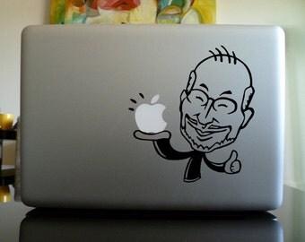 Macbook Decal sticker / Laptop Decal sticker - Steve Jobs