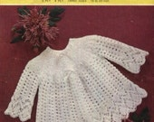 vintage knitting pattern for angel top 3 or 4 ply yarn  3 sizes  .. 18 to 20 inch chest