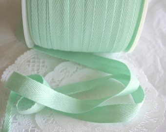 "1/2"" Pastel MINT Cotton Twill Tape, Apron Tape"