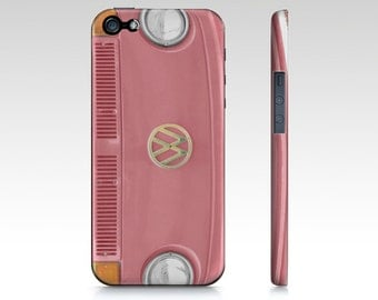 Pink VW bus, Groovy  - classic, retro, vintage, hippie, hipster, cell phone case, iPhone, iPod, Samsung, Blackberry, iPad