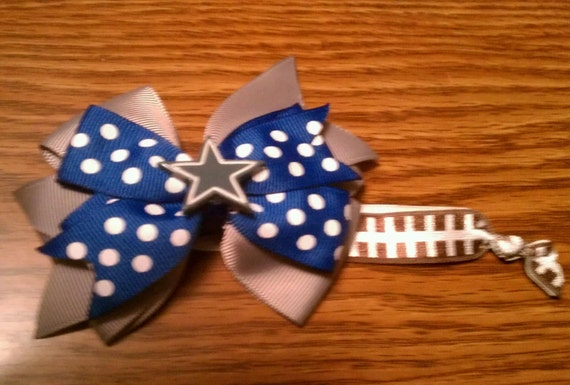 Cowboys Pony Tail Bow