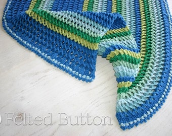 Crochet Pattern, Irish Sea Blanket, Baby, Afghan, Throw