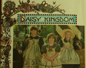 Dress & Pinafore by Daisy Kingdom Dress - 1990's -  Simplicity Pattern 9458  Uncut Sizes 3-4-5-6  Chest 22-23-24-25""