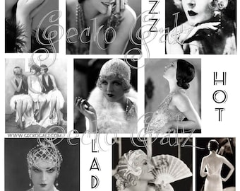 Jazz Hot Ladies Digital collage sheet